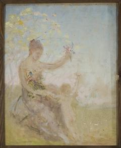 "Sketch for the panel ""Springtime"" for the Bakhchi-Dere villa in Yalta"