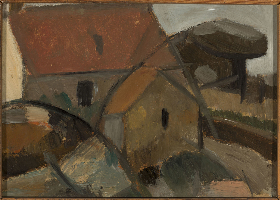 Small house with a red roof