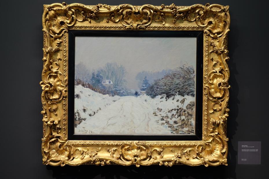 Snow landscape in Louveciennes