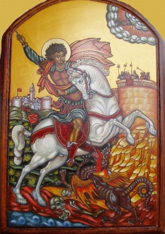 St. George killing the dragon