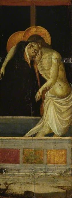 St Jerome and St Francis; reverse, Mary Magdalene embracing The Cross