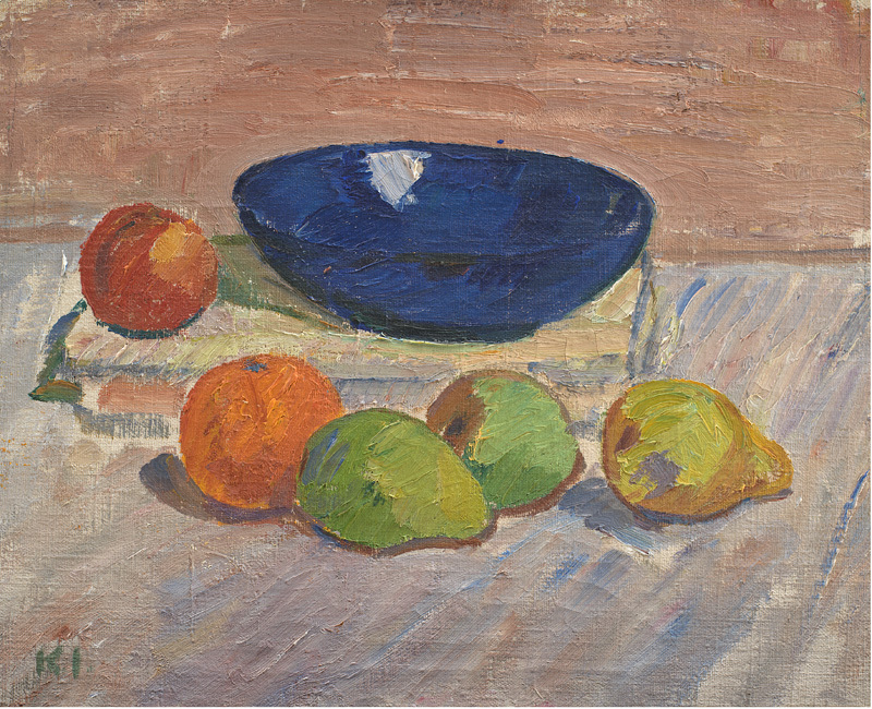 Still Life with Blue Bowl and Fruits