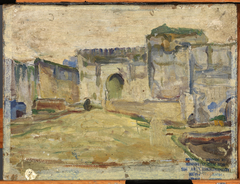 Street Scene, Tangier (Crenelated Architecture)