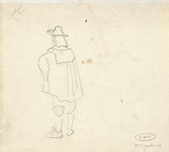 Studie van een man in zeventiende-eeuwse kleding