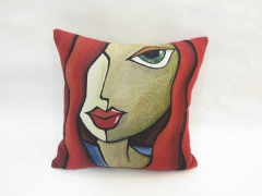 Temptress - Colorful custom throw pillow cushion - Modern Abstract Pop Art by Fidostudio