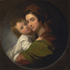 The Artist's Wife Elizabeth and Their Son Raphael