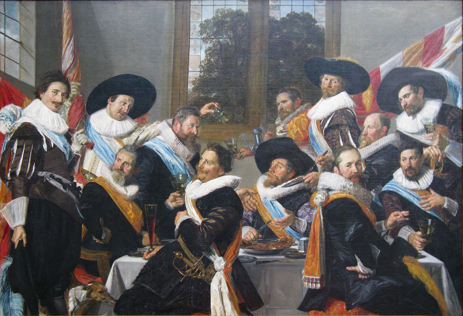 The Banquet of the Officers of the St Adrian Militia Company in 1627