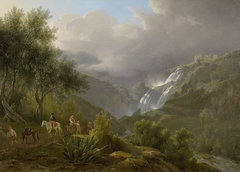 The Cascades at Tivoli, with a Storm Approaching