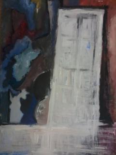 the door (acrylic colours on canva)