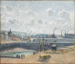 The Fishing Port, Dieppe, Low Tide, Plumes of Smoke