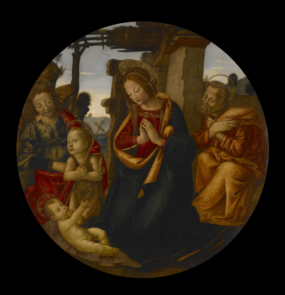 The Holy Family with St. John the Baptist and an Angel