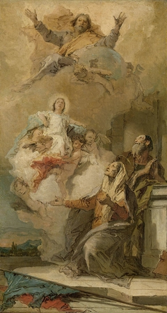 The Immaculate Conception (Joachim en Anna receiving the Virgin Mary from God the Father)