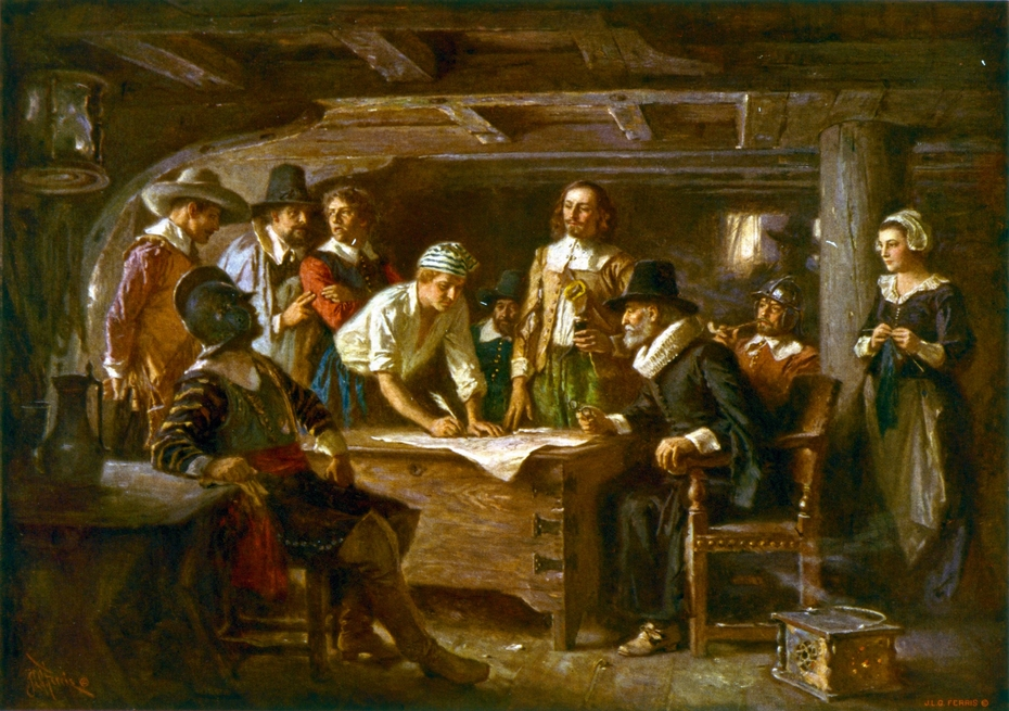 The Mayflower Compact, 1620