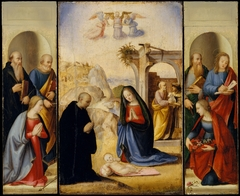The Nativity with Saints