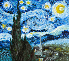The Starry Night, Free copy