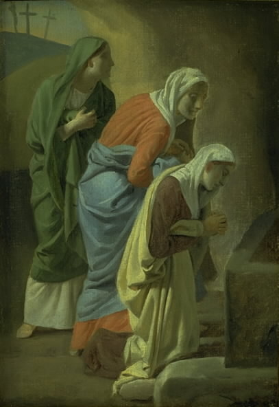 The Three Maries at the Tomb of Christ. Study