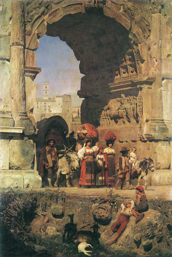 The Triumphal Arch of Titus in Rome