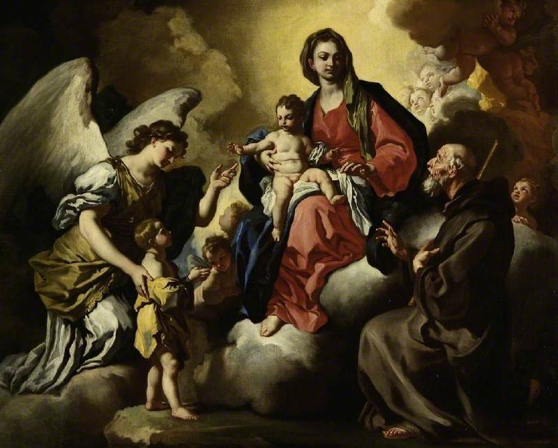 The Virgin and Child, with a boy presented by his Guardian Angel, and S. Francesco Di Paola