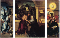 Triptych of the Apparition of Christ to the Virgin