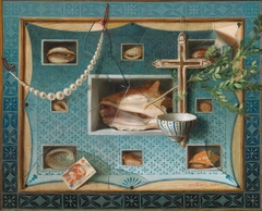 Trompe-l'œil Still Life with Objects from a Cabinet of Curiosities