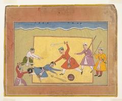 Unidentified Page from a Dispersed Bhagavata Purana (Ancient Stories of Lord Vishnu)