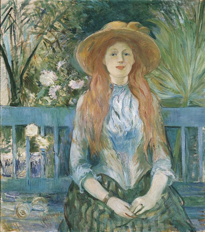 Jeune fille dans un parc
