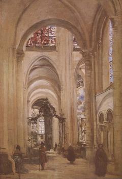 Vue de l'intérieur de la cathédrale de Sens