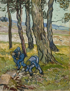 Two Diggers among Trees