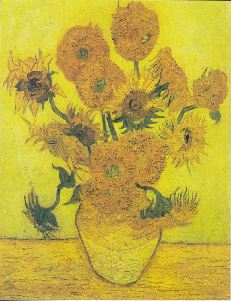 Fourteen Sunflowers in a Vase