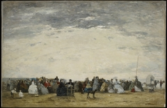 Vacationers on the Beach at Trouville
