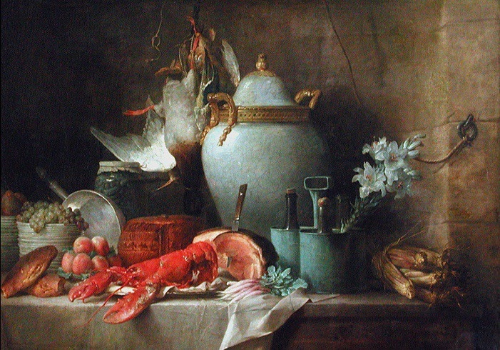 Vase, Lobster, Fruits and Game