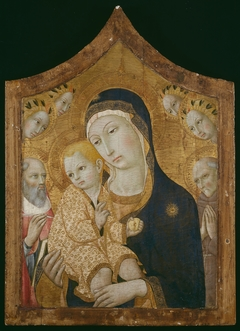 Virgin and Child with Saints Jerome, Bernardino of Siena, and Angels