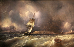 Vue de Brest prise de la rade