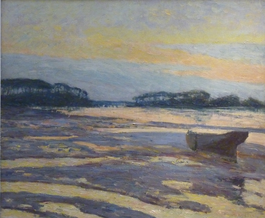 Yellow Dusk on the Mudflats, Loctudy