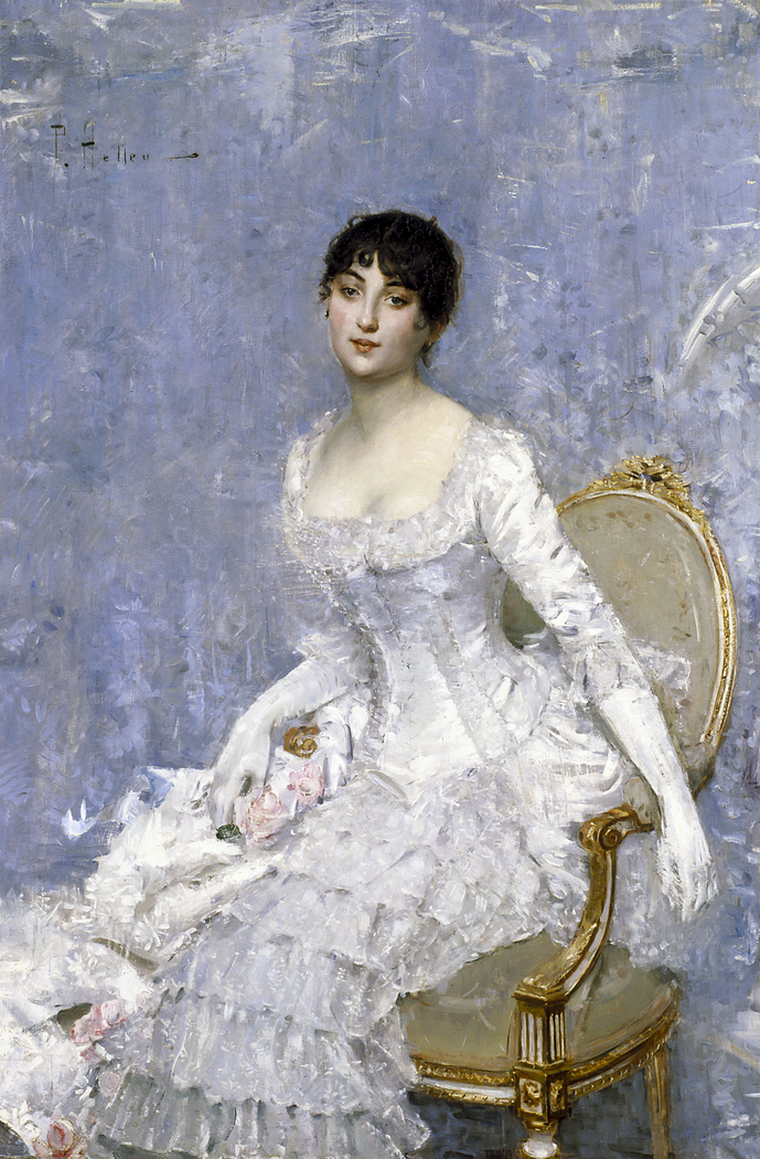 Young Lady in White
