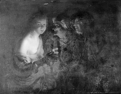 Young Woman with a Candlestick, Old Woman and a Violin Player