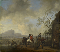 A Hunting Party Halting at a Wayside Inn