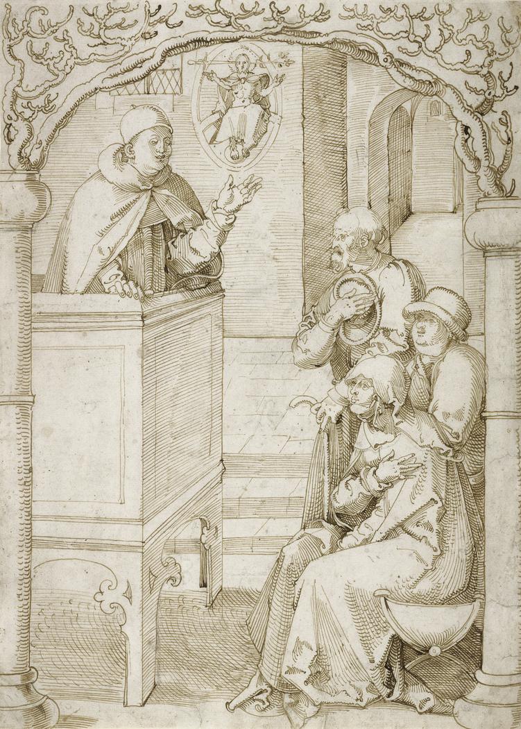 A Monk Preaching