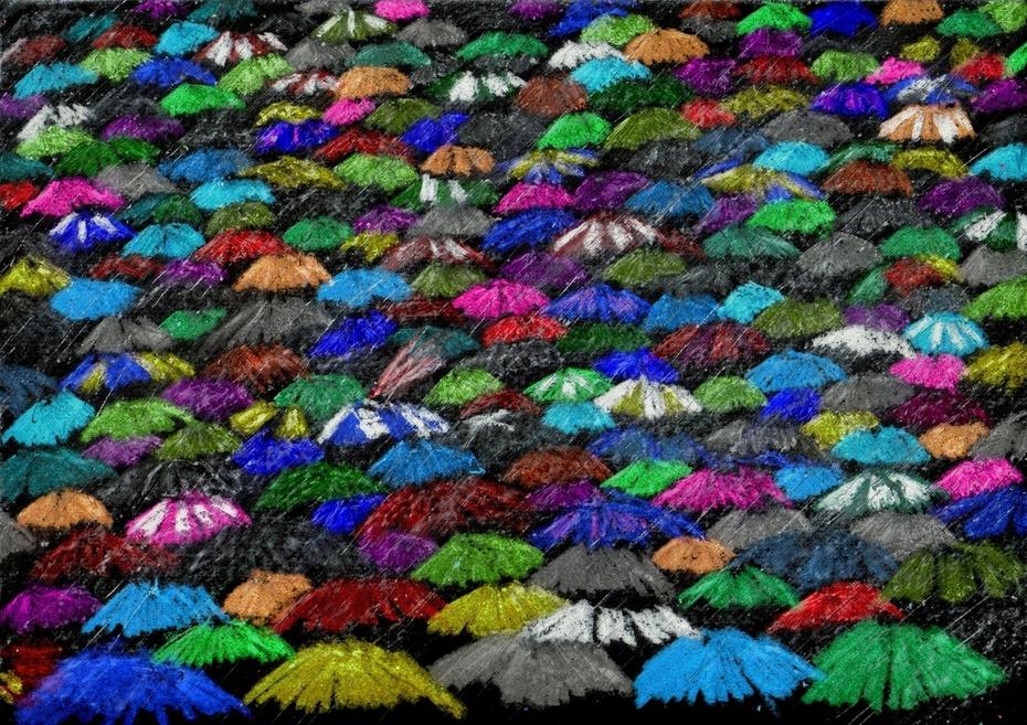 A Sea of Brollies