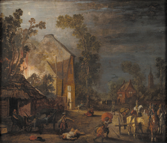 A Village Looted at Night