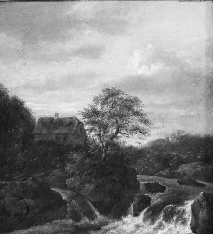 A Waterfall in a Rocky Region