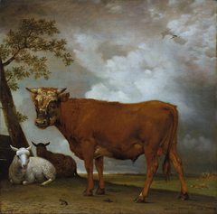 A Young Bull in a Landscape