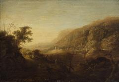 Abendliche Berglandschaft