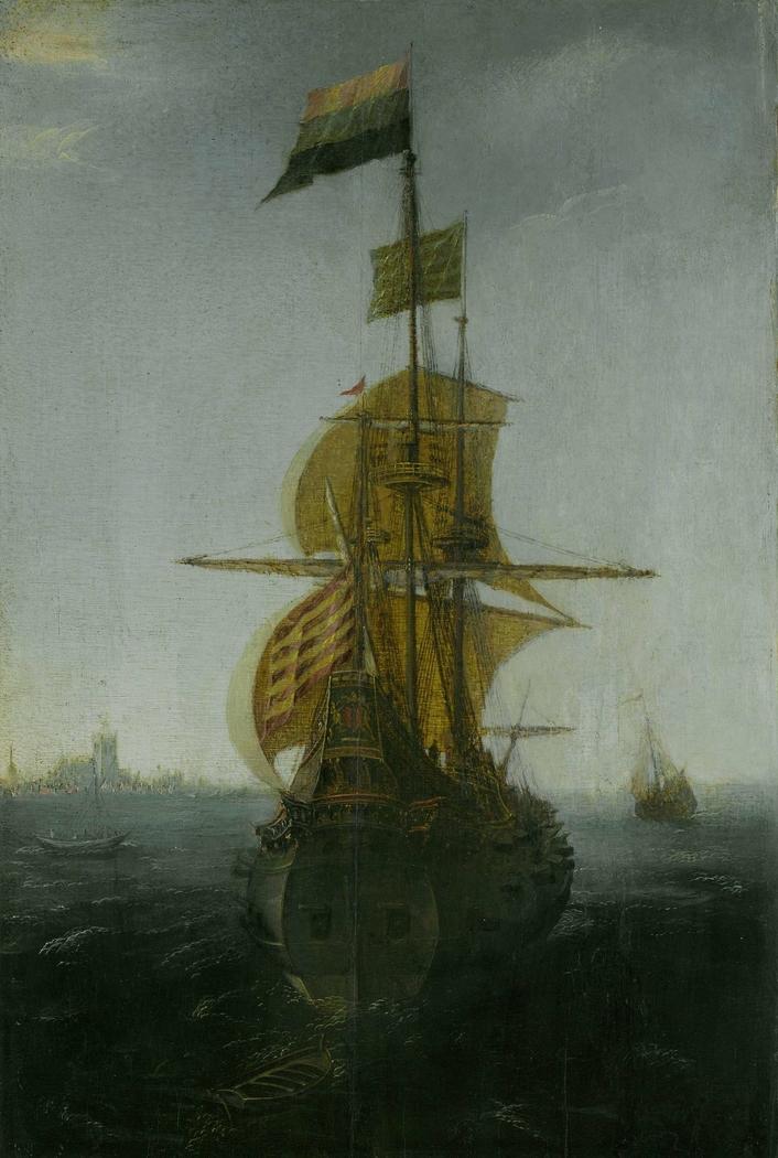 An Amsterdam East Indiaman Sailing Vessel