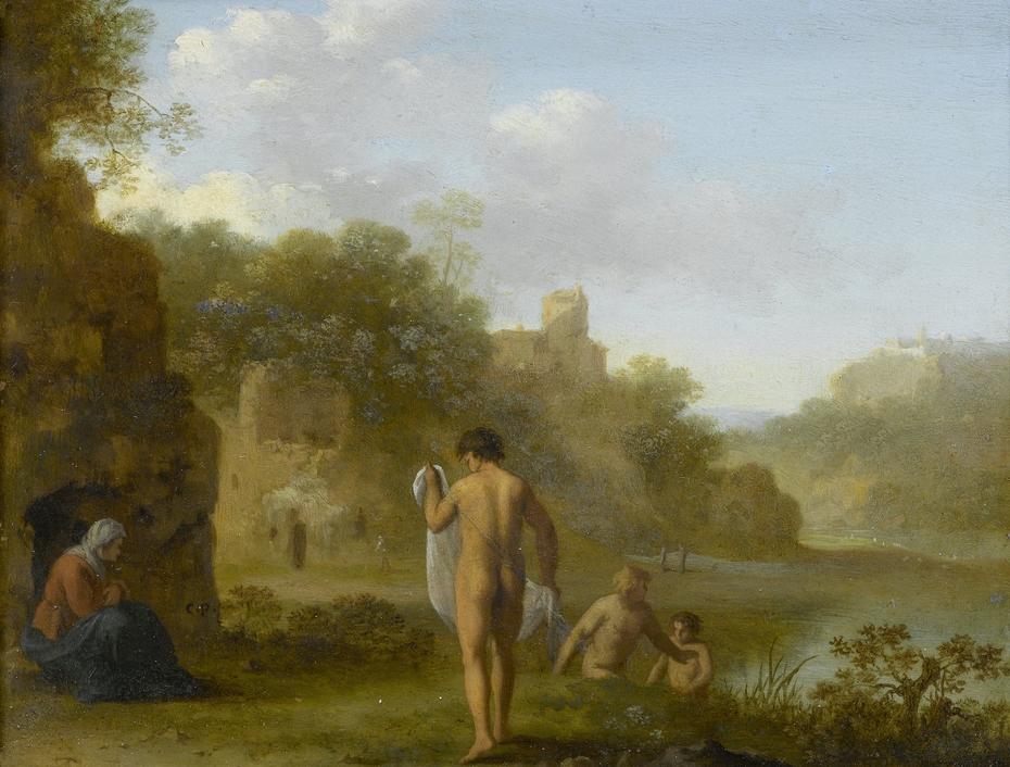 Bathing men