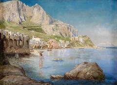 Beach Scene in Capri