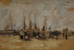 Beach Scene, possibly Harfleur