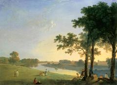 Blick über die Themse bei Richmond Gardens auf Syon House
