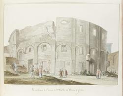 Buitenmuur van oude theater van Catanië