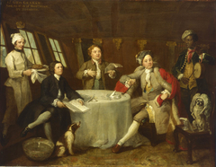 Captain Lord George Graham in his Cabin